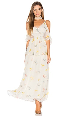 Magnolia Maxi Dress in Elfenbein