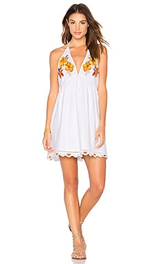 Love and Flowers Dress in White