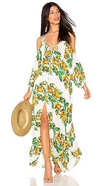 Monarch Maxi Dress in Yellow