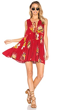 Lovely Day Printed Tunic in Red