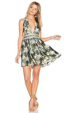 Daydream Mini Printed Dress in Black Combo