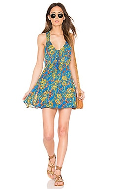 Washed Ashore Mini Dress in Blue Combo