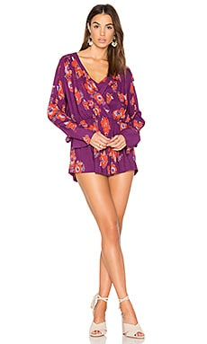 Tuscan Dreams Printed Tunic en Ciruela