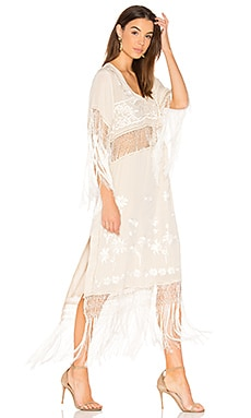 Ella Fringe Dress in Ivory