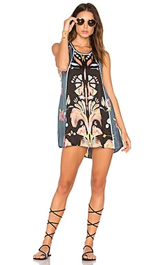 Dream Free Printed Tunic in Black