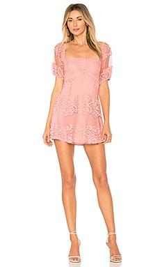 Купить Мини платье be your baby - Free People розового цвета