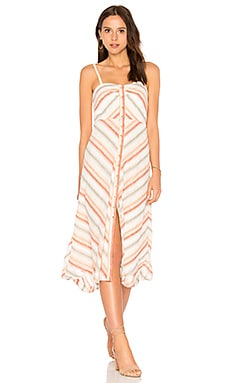 Striking Striped Midi Dress