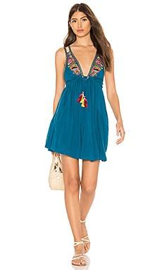 Купить Мини платье lovers cove - Free People, Майка, Индия, Бирюзовый
