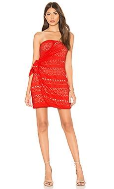 Купить Мини платье oceanside - Free People красного цвета