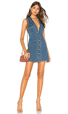 Wandering Star Denim Mini Dress Free People $98