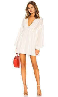 Купить Мини платье sugarpie - Free People, Платье с юбкой солнце, Индия, Белый