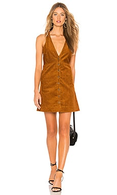 Купить Платье rolling thunder - Free People коричневого цвета