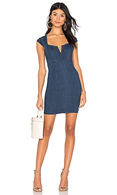 Lia Denim Mini Dress Free People $54