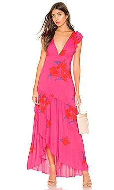 She's A Waterfall Maxi Dress Free People $128