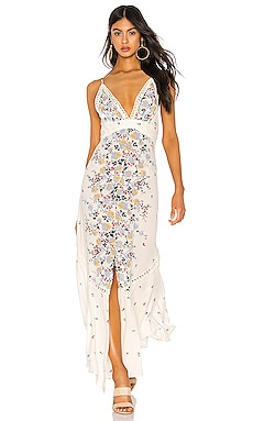 Paradise Printed Maxi Dress Free People $128