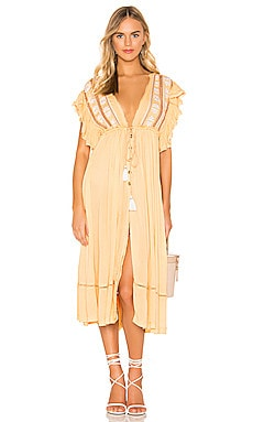 Will Wait For You Midi Dress Free People $54