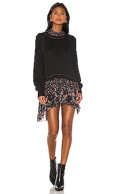 МИНИ ПЛАТЬЕ OPPOSITES ATTRACT Free People $128
