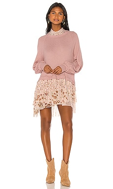 МИНИ ПЛАТЬЕ OPPOSITES ATTRACT Free People $81