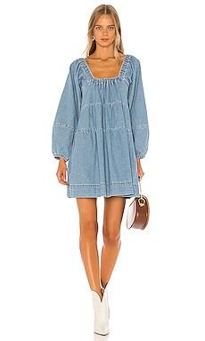 Blue Jean Babydoll Dress Free People $128
