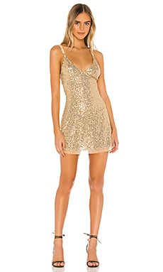 Gold Rush Mini Dress Free People $43
