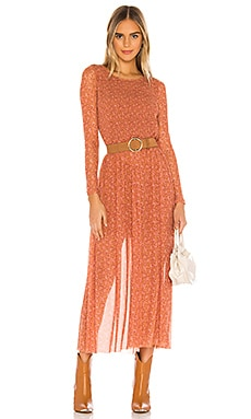 Hello And Goodbye Midi Dress Free People $128 NEW ARRIVAL