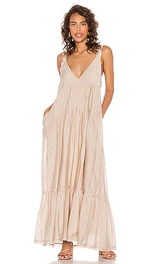 Frankie Pintuck Maxi Dress Free People $148 BEST SELLER