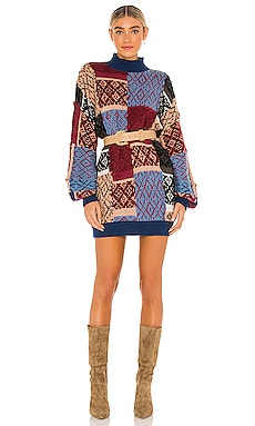 ПЛАТЬЕ PATCHED ARGYLE Free People $228