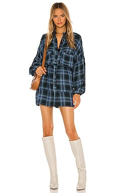 By The Way Plaid Mini Dress Free People $128
