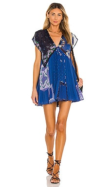 Mended With Scarves Mini Dress Free People $148 BEST SELLER