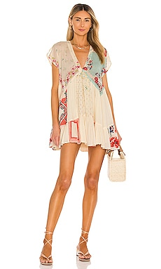 Mended With Scarves Mini Dress Free People $148