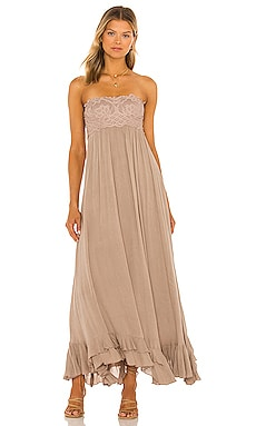Adella Corset Maxi Dress Free People $128 NEW