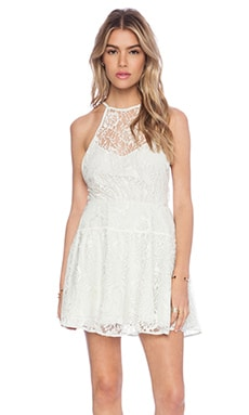 Free People Wish Upon A Star Dress in Ice Combo