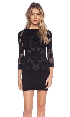 Free People Placed Cutwork Slip in Black Combo