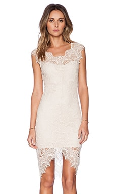 Free People Peek-A-Boo Slip Dress in Sand