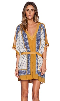 Free People Santa Cruz Dress in Goldenrod Combo