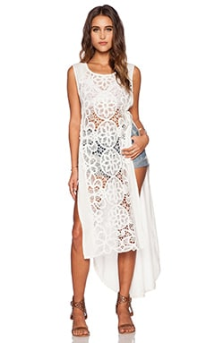 Free People Never Enough Maxi Dress in Ivory