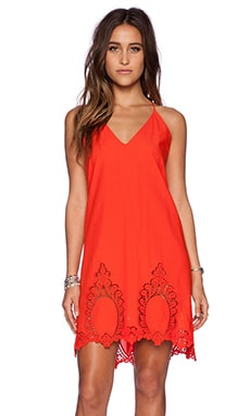 Free People Easy Livin Slip in Fire Cracker Red