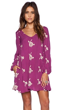 Free People Emma's Dress in Berry Purple Combo