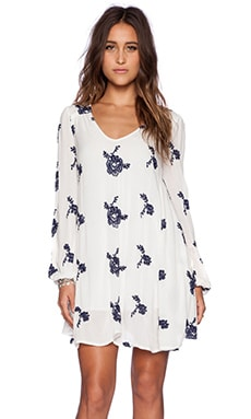 Free People Emma's Dress in Eggshell Combo