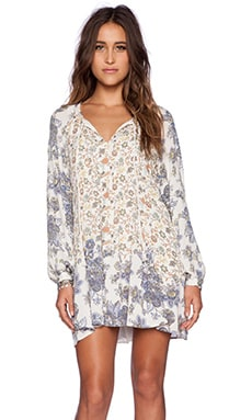Free People Lucky Loosey Dress in Honeysuckle Combo