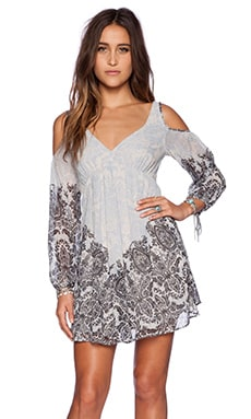 Free People Penny Lover Mini Dress in Ivory Combo