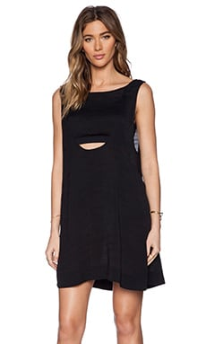 Free People Tropical 2fer Mini Dress in Black