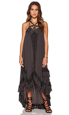 Free People Spring Awakening Maxi Dress in Charcoal