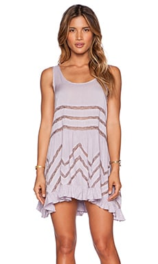 Free People Tiny Dot Trapeze Slip in Lavender Combo