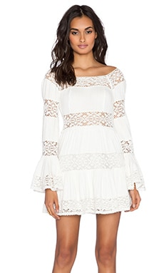 Free People Pippa Dress in Ivory Combo