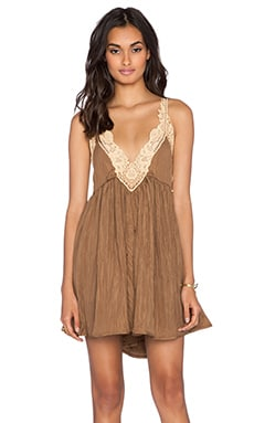 Free People Breathless Mini Slip in Martini