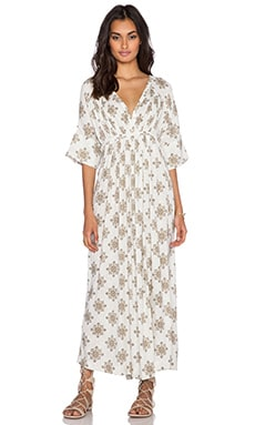 Oasis Maxi Dress in Vanilla Combo