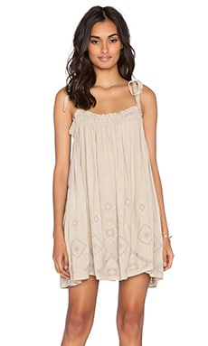 Free People Summer Sun Tunic in Taupe Combo