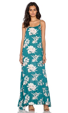 Free People Star Chasing Dress in Emerald Combo