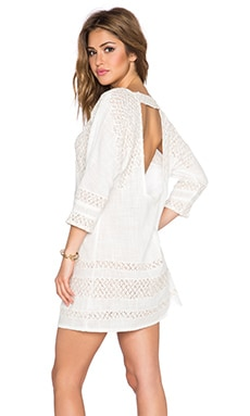 Free People Cotton Slub Desert Song Mini Shift in Ivory